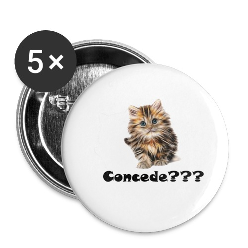 Concede kitty - Stor pin 56 mm (5-er pakke)