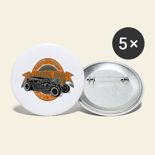 Raredog Rods Logo - Buttons/Badges stor, 56 mm (5-pack)