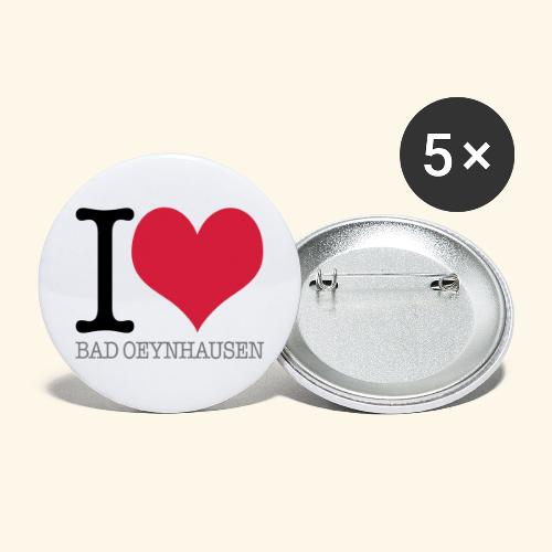 Love is in the Kurstadt - Buttons groß 56 mm (5er Pack)