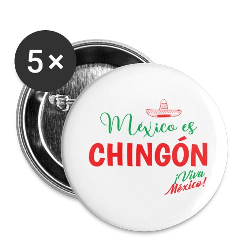 Mexico es Chingón - Paquete de 5 chapas grandes (56 mm)