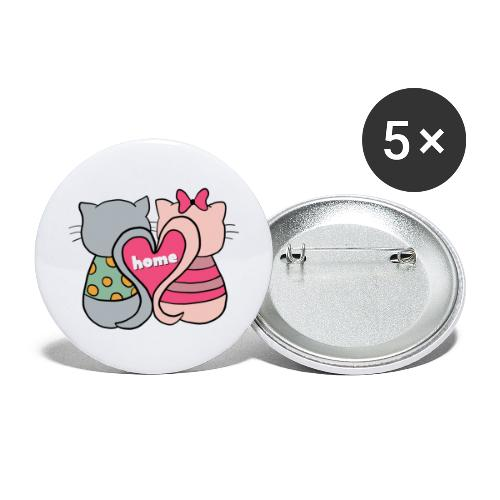 Cats - Buttons large 2.2''/56 mm (5-pack)