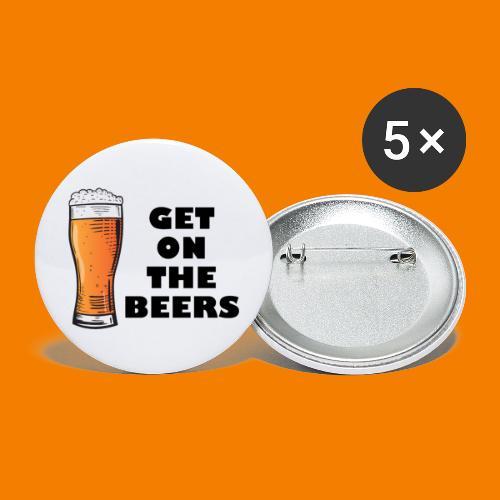 Get On The Beers - Stora knappar 56 mm (5-pack)
