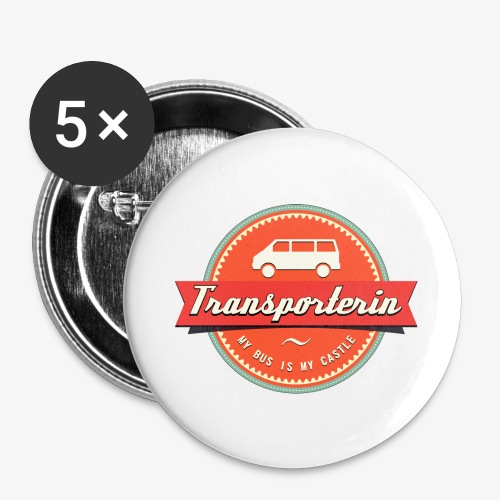 Transporterin Retro - Buttons groß 56 mm (5er Pack)