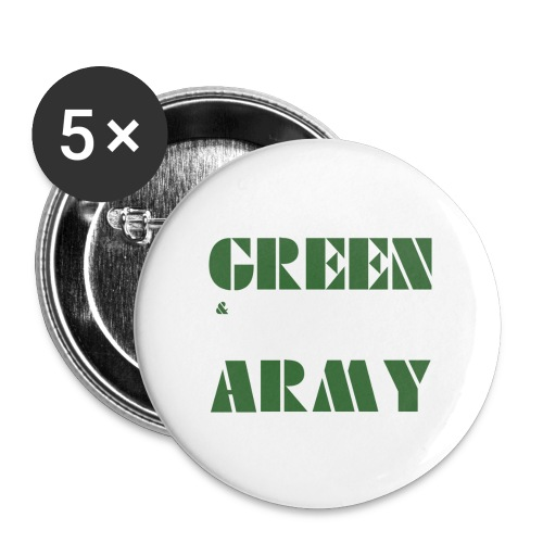 GREEN & WHITE ARMY _STENCIL_3 - Buttons large 2.2''/56 mm(5-pack)