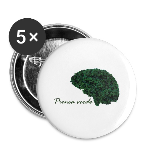 Piensa verde - Paquete de 5 chapas grandes (56 mm)
