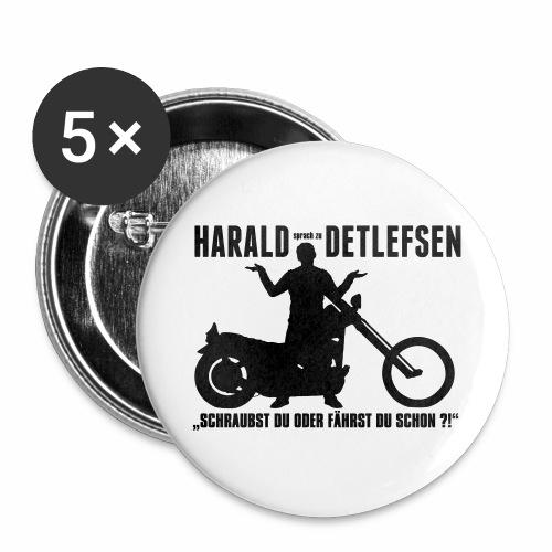 Harald Detlefsen - Buttons groß 56 mm (5er Pack)