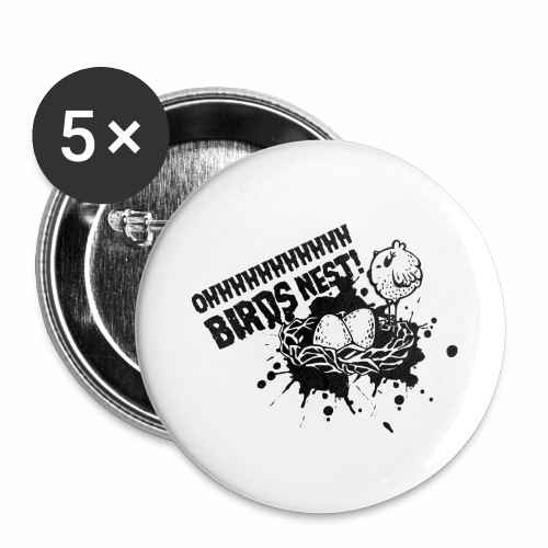 Birds Nest With Bird - Buttons large 2.2''/56 mm(5-pack)