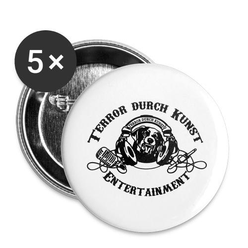 tdklogoschwarz 3 - Buttons groß 56 mm (5er Pack)