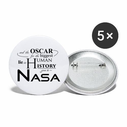 Flat Earth Nasa - Buttons groß 56 mm (5er Pack)