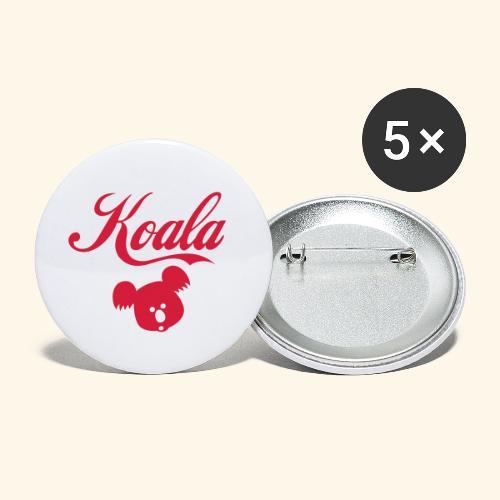 Koala Kawaii Comic Design für Australien Fans - Buttons groß 56 mm (5er Pack)