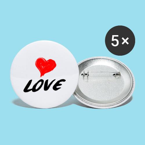 LOVE - Buttons groß 56 mm (5er Pack)