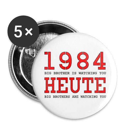 Text 025 - Buttons groß 56 mm (5er Pack)