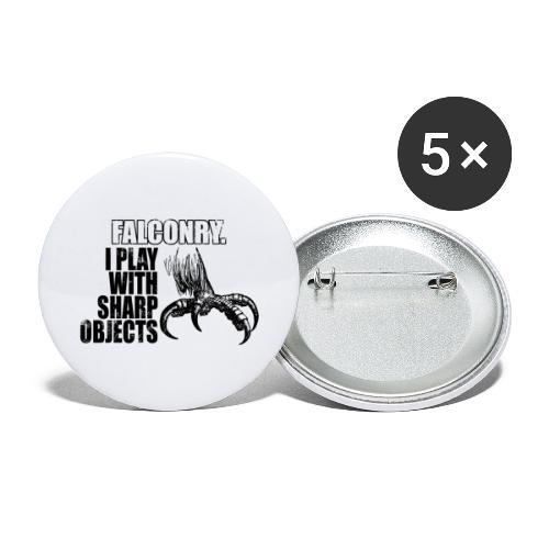 falconry - królestwo sokolnictwa - Przypinka duża 56 mm (pakiet 5 szt.)