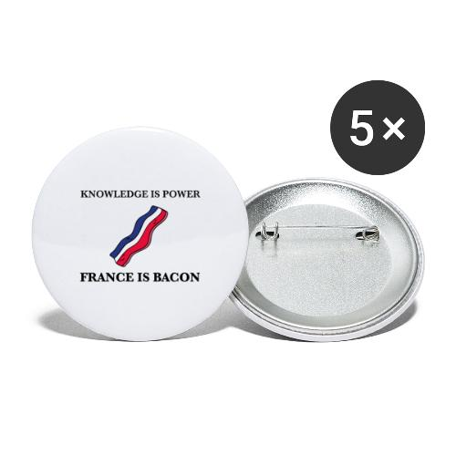 France is Bacon - Buttons large 2.2''/56 mm(5-pack)