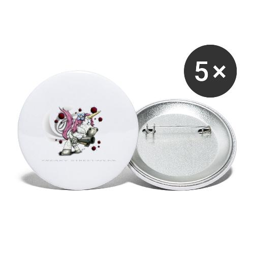 unicorn - Buttons groß 56 mm (5er Pack)