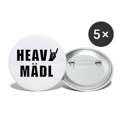 Heavy Mädl - Buttons groß 56 mm (5er Pack)