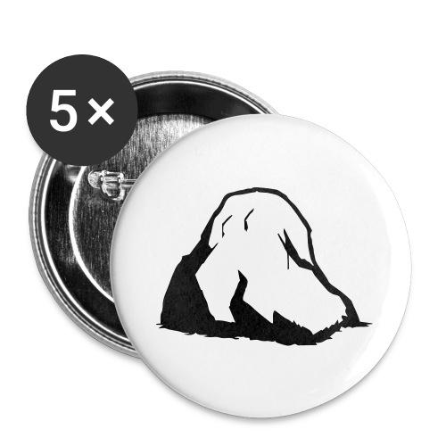 Boulder - Buttons groß 56 mm (5er Pack)