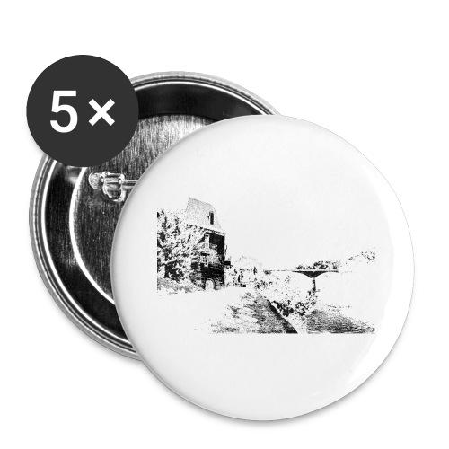 J'aime Mouleydier - Pont F - Lot de 5 grands badges (56 mm)