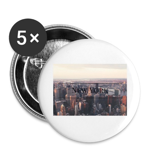 spreadshirt - Lot de 5 grands badges (56 mm)