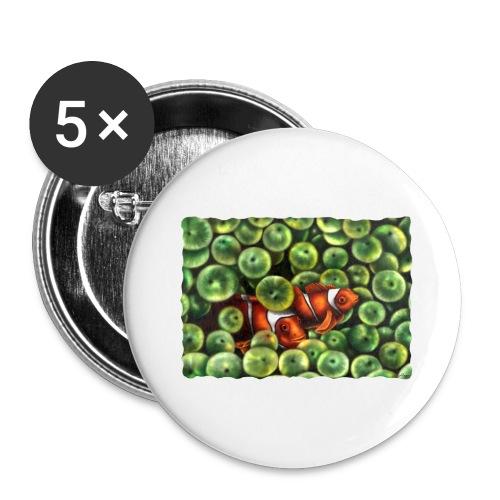 Pesci Pagliaccio - Confezione da 5 spille grandi (56 mm)