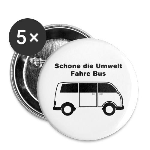 Schone die Umwelt - fahre Bus (vintage) - Buttons groß 56 mm (5er Pack)