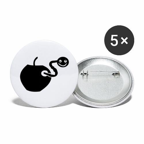 Wurm drin? - Buttons groß 56 mm (5er Pack)