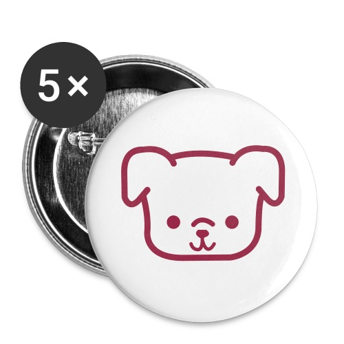 CutiePie Dog - Buttons large 2.2''/56 mm (5-pack)