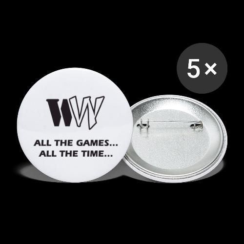 WW ATGATT BLACK on Transp - Buttons large 2.2''/56 mm (5-pack)