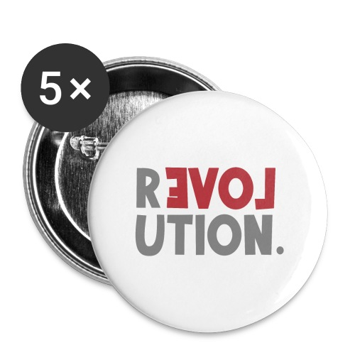 Revolution Love Sprüche Statement be different - Buttons groß 56 mm (5er Pack)
