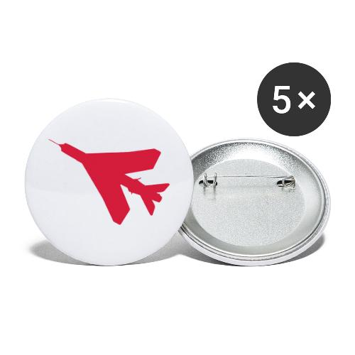 BAC English Electric Lightning Silhouette - Buttons large 2.2''/56 mm(5-pack)