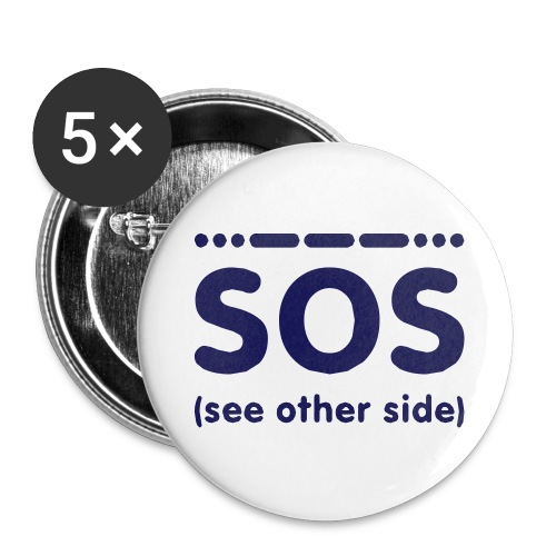 SOS - Buttons groot 56 mm (5-pack)