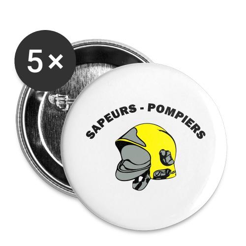 casque couleur - Lot de 5 grands badges (56 mm)