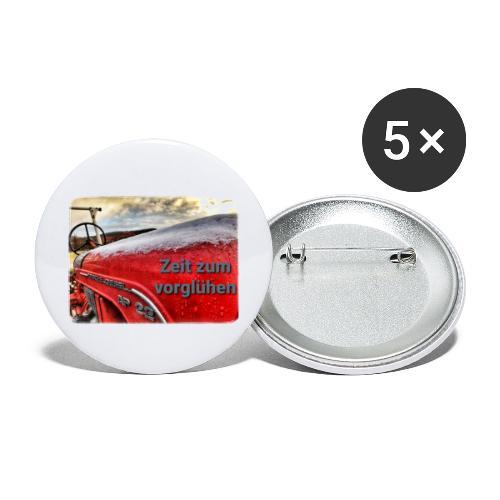 Zeit zum vorglühen - Buttons groß 56 mm (5er Pack)