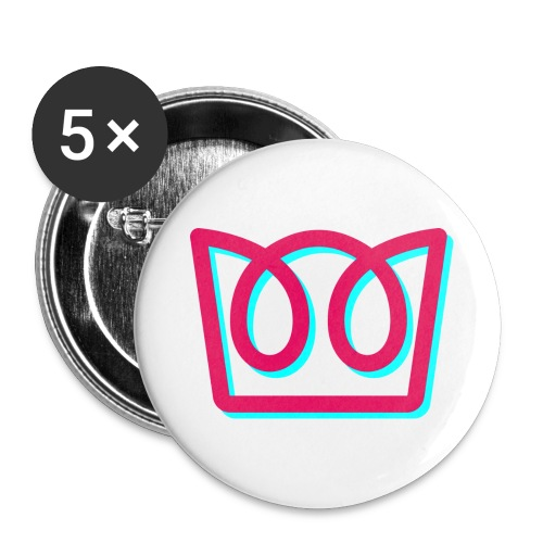 Neon Crown - Buttons large 2.2''/56 mm(5-pack)