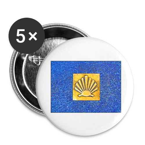 Scallop Shell Camino de Santiago - Buttons large 2.2''/56 mm(5-pack)