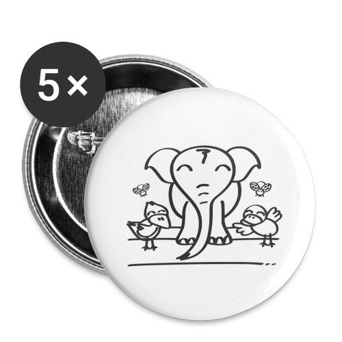 78 elephant - Buttons groß 56 mm (5er Pack)