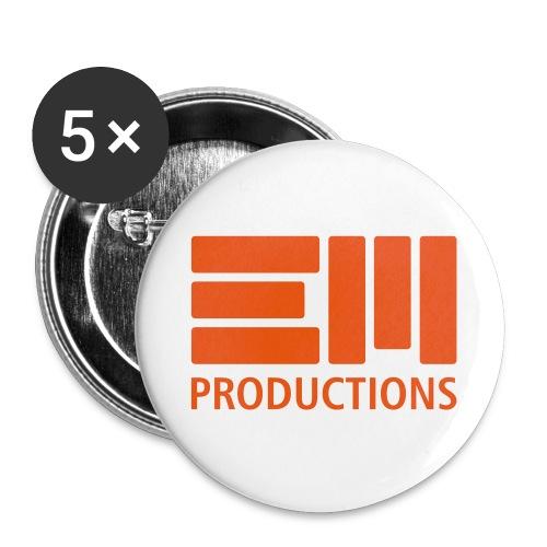 EM Productions Logo 2016 - Buttons groß 56 mm (5er Pack)