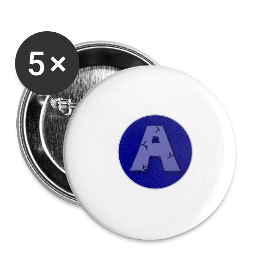 A-T-Shirt - Buttons groß 56 mm (5er Pack)