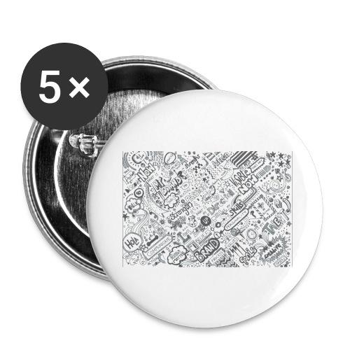 Doodle - Przypinka duża 56 mm (pakiet 5 szt.)