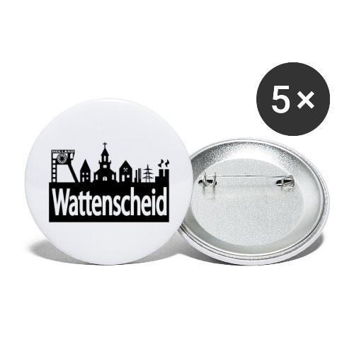 Skyline Wattenscheid - Buttons groß 56 mm (5er Pack)