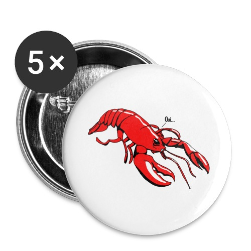 Lobster - Buttons large 2.2''/56 mm(5-pack)