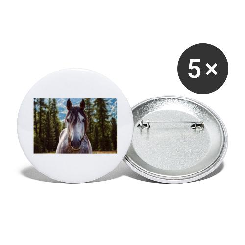 Nature Horse by #CreativeArts - Buttons groß 56 mm (5er Pack)