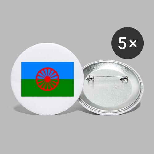 Flag of the Romani people - Stora knappar 56 mm (5-pack)