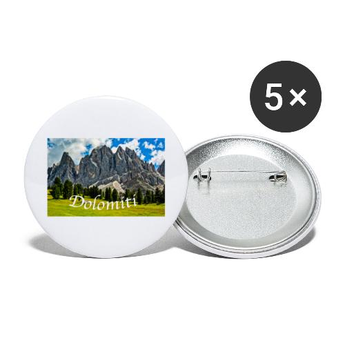 Naturpark Puez Geisler - Buttons groß 56 mm (5er Pack)