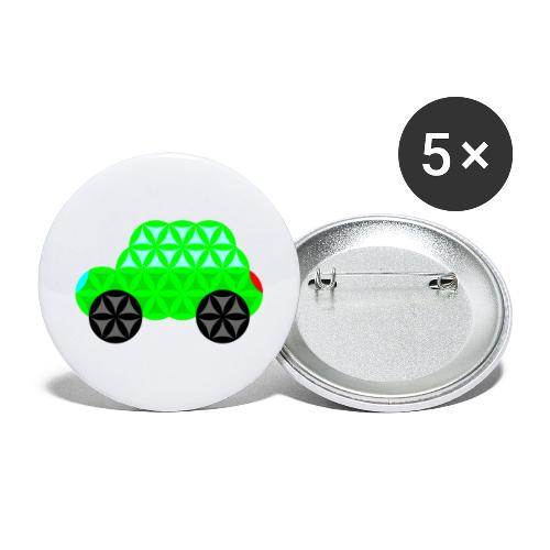 The Car Of Life - M01, Sacred Shapes, Green/R01. - Buttons large 2.2''/56 mm(5-pack)