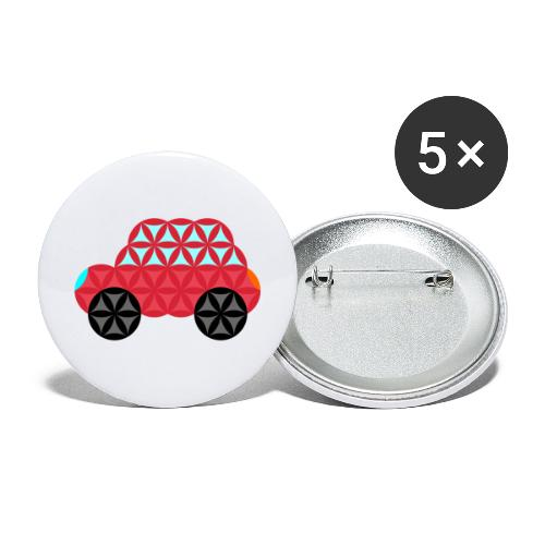 The Car Of Life - M02, Sacred Shapes, Red/186 - Buttons large 2.2''/56 mm(5-pack)