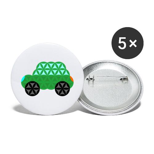 The Car Of Life - M01, Sacred Shapes, Green/363 - Buttons large 2.2''/56 mm(5-pack)