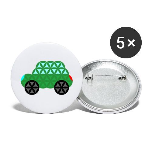 The Car Of Life - M02, Sacred Shapes, Green/363 - Buttons large 2.2''/56 mm(5-pack)