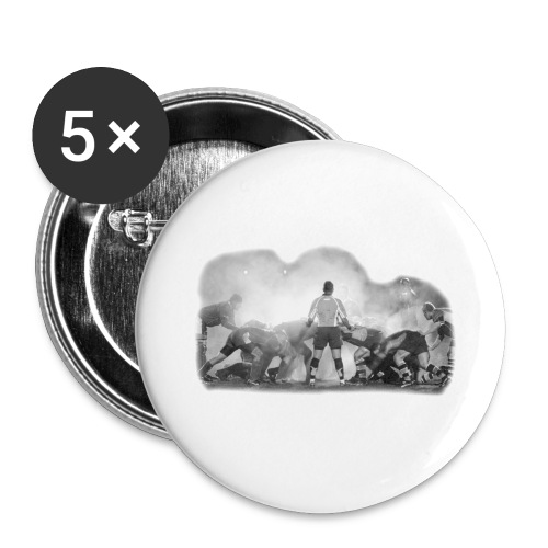 Rugby Scrum - Buttons large 2.2''/56 mm(5-pack)