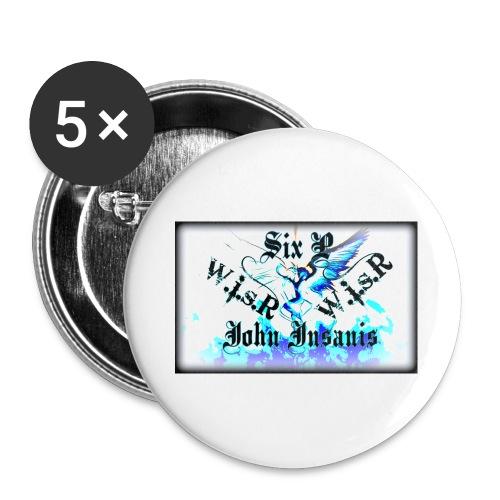 Six P & John Insanis WISR -Huppari- - Rintamerkit isot 56 mm (5kpl pakkauksessa)